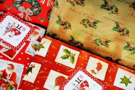 writing western: Gift wrapped Christmas presents, UK, Western Europe