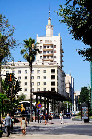 equitable: Malaga, Spain - June 14, 2011 - Equitable Building  Edificio de la Equitativa , Malaga, Costa del Sol, Malaga Province, Andalucia, Spain, Western Europe  Editorial