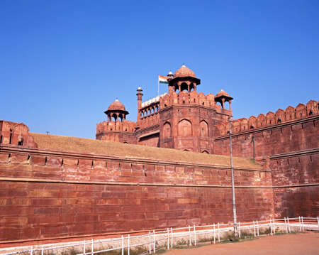 unesco world cultural heritage: The Red Fort, Old Delhi, India  Editorial