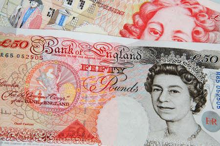 u k: Two fifty pound notes, England, UK, Western Europe  Stock Photo
