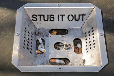 Stub it Out Ashtray Stock Photo