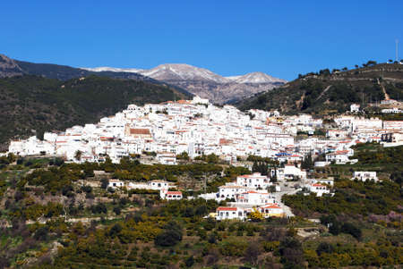 spanish village: View of whitewashed Spanish village in Malaga, Spain
