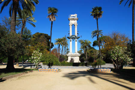 paseo: November 15, 2008 - Monument to Cristobal Colon in the Paseo de Catalina de Ribera, Seville, Seville Province, Andalusia, Spain  Editorial