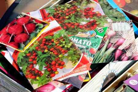 United Kingdom - January 25, 2012 - Selection of vegetable seed packets, England, UK, Western Europe