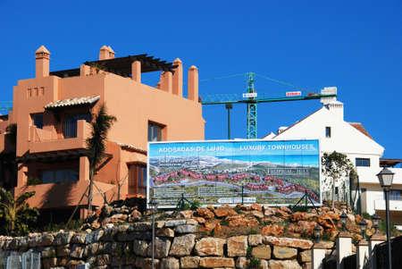 'costa del sol': Riviera del Sol, Spain - January 21, 2009 - Townhouse development site, Riviera del Sol, Mijas Costa, Costa del Sol, Malaga Province, Andalucia, Spain  Editorial
