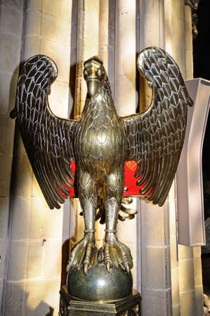 lectern: Eagle Lectern inside the Cathedral, Lichfield, Staffordshire, England, United Kingdom, Western Europe