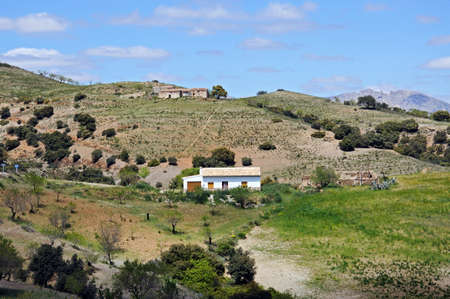 Cortijos on the hillside, Near Puertecico, Almeria Province, Andalucia, Spain, Western Europe  photo