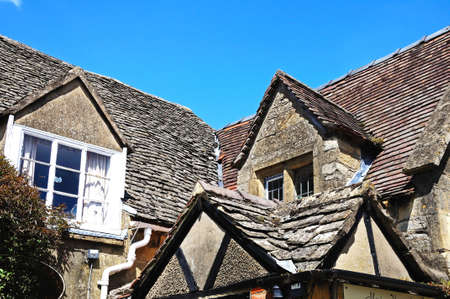 cotswold: Cotswold stone cottage, Broadway, Cotswolds, Worcestershire, England, UK, Western Europe