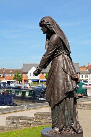 macbeth: Stratford-upon-Avon, UK - June 12, 2014 - Lady Macbeth at the Gower Memorial, Stratford-upon-Avon, Warwickshire, England, UK, Western Europe