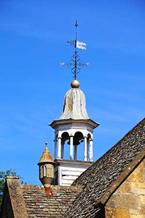 Clock tower on top of the town hall, Chipping Campden, The Cotswolds, Gloucestershire, England, UK, Western Europe  photo