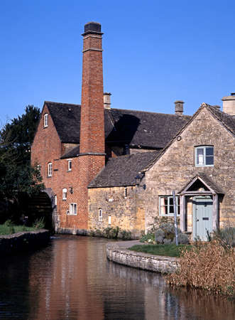 uk: The Old Mill on the River Eye, Lower Slaughter, Gloucestershire, Cotswolds, England, UK, Western Europe