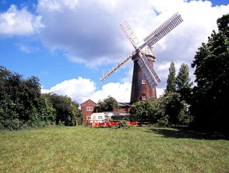 suffolk: Buttrums Mill Windmill, Woodbridge, Suffolk, England, UK  Stock Photo