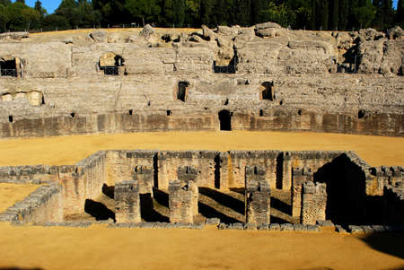 Arena in the Amphitheatre in Seville, Spain photo