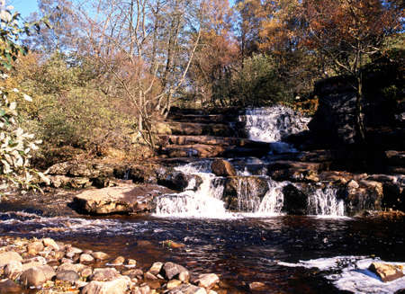 uk: Kisdon Falls Waterfall, Keld, Yorkshire Dales, North Yorkshire, England, UK, Great Britain, Western Europe  Stock Photo