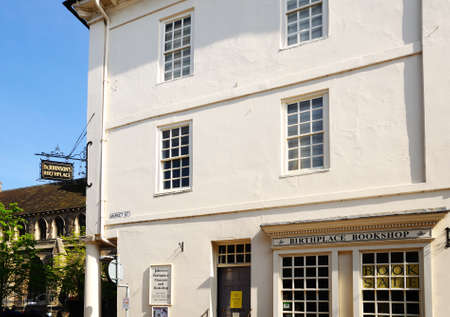 dr: Dr Johnson's Birthplace and Museum in Market Place, Lichfield, Staffordshire, England, United Kingdom, Western Europe.
