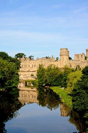 gb: Warwick, UK - June 12, 2014 - View of Warwick castle and the River Avon, Warwick, Warwickshire, England, UK, Western Europe