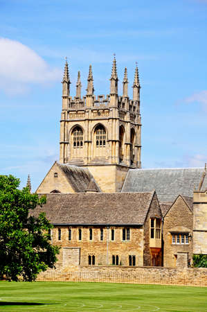 oxfordshire: View of Merton College and Merton Chapel, Oxford, Oxfordshire, England, UK, Western Europe