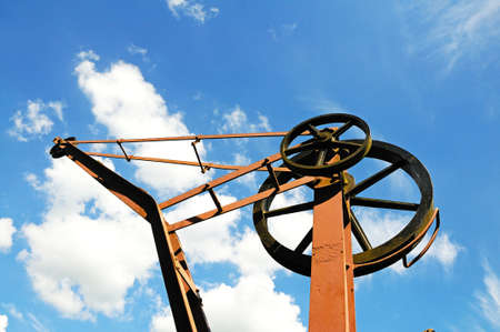 severn: Top of an old goods yard crane at the railway station, Severn Valley Railway, Highley, Worcestershire, England, UK, Western Europe  Stock Photo
