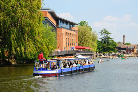 Stratford-upon-Avon, UK - May 18, 2014 - Royal Shakespeare Company Theatre along the River Avon, Stratford-Upon-Avon, Warwickshire, England, United Kingdom, Western Europe.