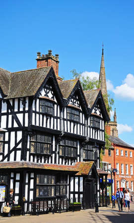 jacobean: The High House in High Town Built in 1621, Hereford, Herefordshire, England, UK, Western Europe.