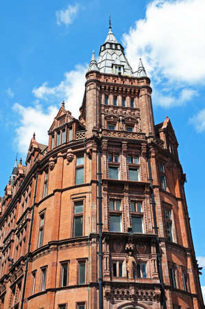prudential: The old Prudential building on the corner of King and Queen Street, Nottingham, Nottinghamshire, England, UK, Western Europe.
