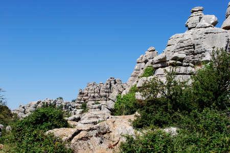 Karst landscape, El Torcal National Park, Torcal de Antequera, Malaga Province, Andalucia, Spain, Western Europe.