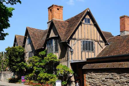 croft: Stratford-upon-Avon, UK - May 18, 2014 - Halls Croft, Shakespeares daughters house, Stratford-upon-Avon, UK