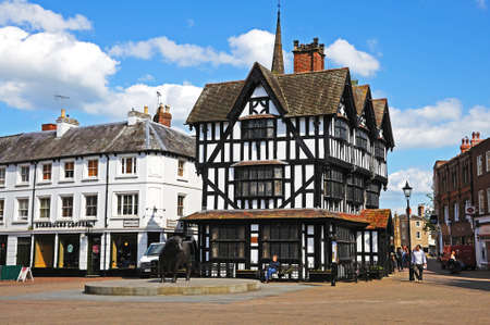 jacobean: Hereford, UK - June 5, 2014 - The High House in High Town Built in 1621, Hereford, Herefordshire, England, UK, Western Europe. Editorial
