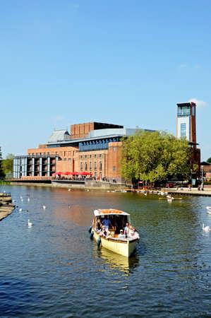 Stratford-upon-Avon, UK - May 18, 2014 - Royal Shakespeare Company Theatre along the River Avon, Stratford-Upon-Avon, Warwickshire, England, United Kingdom, Western Europe.