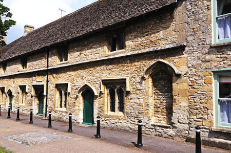 almshouse: View of the almshouses which were built to house poor people in Medieval times, Burford, Oxfordshire, England, UK, Western Europe.