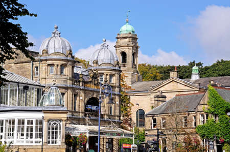 edwardian: Buxton, UK - September 7, 2014 - View of the Opera House with the Church to the rear, Buxton, Derbyshire, England, UK, Western Europe.