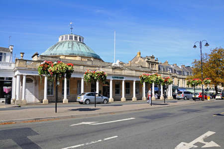 bank western: Cheltenham, UK - September 8, 2014 - View of the Montpellier Rotunda which was formerly a Spa building and is now Lloyds Bank, Cheltenham, Gloucestershire, England, UK, Western Europe.