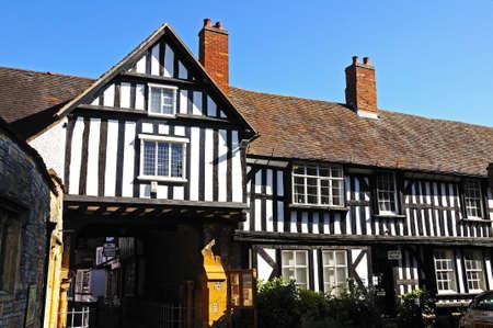 worcestershire: Evesham, UK - September 8, 2014 - The timber framed Church House, Evesham, Worcestershire, England, UK, Western Europe.