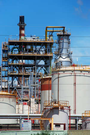 petrochemical: Petrochemical oil refinery, Puente Mayorga, Cadiz Province, Andalusia, Spain, Western Europe. Editorial