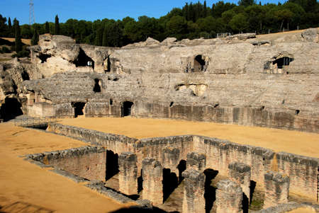 Arena in the Amphitheatre, Italica, Seville, Seville Province, Andalusia, Spain, Western Europe. photo