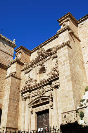 western europe: Almeria Cathedral entrance, Almeria, Almeria Province, Andalusia, Spain, Western Europe.
