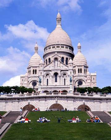coeur: View of the Sacre Coeur Basilica, Paris, France, Western Europe.