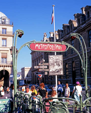 western europe: Passengers entering the Chatelet Metro station, Paris, France, Western Europe.