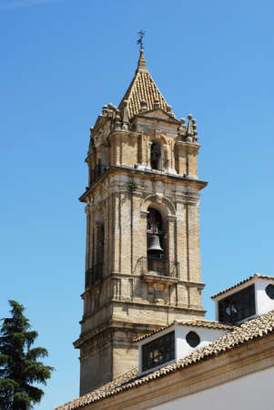 church tower: Parish of the Assumption church tower, Cabra, Cordoba Province, Andalusia, Spain, Western Europe.