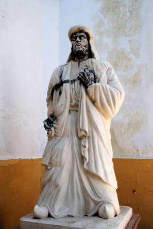 ibn: Statue of the Arab poet Muqaddan Ibn Muafa Al-Cabri Siglo X, Cabra, Cordoba Province, Andalusia, Spain, Western Europe.