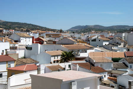 western europe: View over the village rooftops, Cabra, Cordoba Province, Andalusia, Spain, Western Europe.