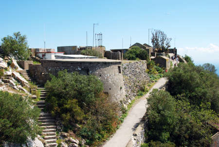 western europe: Fortifications on the upper rock, Gibraltar, United Kingdom, Western Europe.