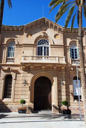 western europe: Front view of the Episcopal palace, Almeria, Almeria Province, Andalusia, Spain, Western Europe.