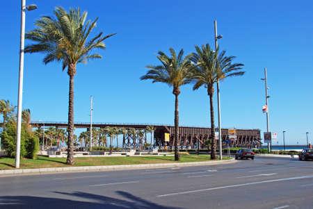 railtrack: Railtrack jetty at the end of Avenida Federico Garcia Lorca, Almeria, Almeria Province, Andalusia, Spain, Western Europe.