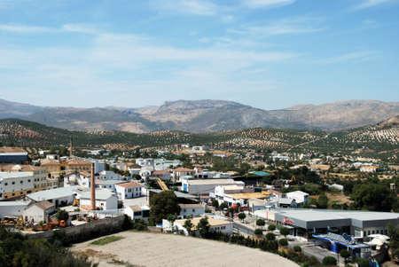balcon: View of the town from the Balcon de Adarves, Priego de Cordoba, Cordoba Province, Andalusia, Spain, Western Europe. Editorial