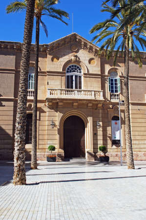 episcopal: Front view of the Episcopal palace, Almeria, Almeria Province, Andalusia, Spain, Western Europe.