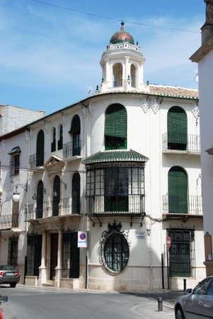 Interesting town building along Calle Fray Albino, Priego de Cordoba, Cordoba Province, Andalusia, Spain, Western Europe. photo