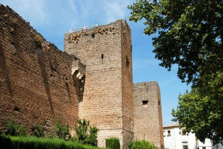 arabe: Vista del castillo árabe (Castillo Arabe), Priego de Córdoba, Provincia de Córdoba, Andalucía, España, Europa Occidental.