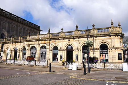 derbyshire: View of the Thermal Baths (now Cavendish shopping arcade), Buxton, Derbyshire, England, UK, Western Europe.