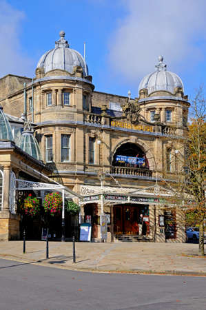 derbyshire: Front view of the Opera House, Buxton, Derbyshire, England, UK, Western Europe. Editorial